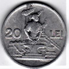 20 lei 1951 VF+ RPR (14) - Moneda Romania, Aluminiu