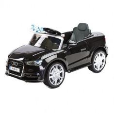 Vehicul Electric Audi A3 2 x 6V cu Telecomanda Black - Masinuta electrica copii