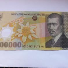 Romania 500000 Lei 2000 Ghizari Polimer - Bancnota romaneasca