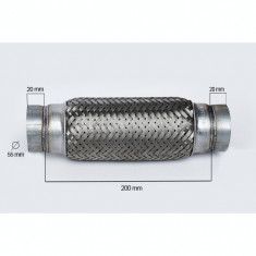 RACORD FLEXIBIL toba esapament  OUTER BRAID (A) 55X200 MM IS-33750