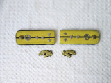 Epoleti si petlite capitan arma chimica RSR, epoleti vechi armata romana