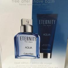 CALVIN KLEIN ETERNITY AQUA + AFTER SHAVE BALM - Parfum barbati Calvin Klein, Seturi, 100 ml