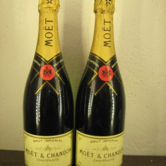 2 sticle, rare vechi - champagne, Brut imperial MOET & chandon 75 cl 12%vol - Sampanie