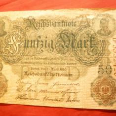 Bancnota 50 Marci 1910 litera A Germania ,cal.f.buna