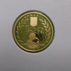 Moneda BNR 100 lei 2010 Aur Regina Maria - Moneda Romania