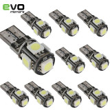 Bec LED T10 W5W Canbus 6500k Alb Pozitie interior SMD Auto Moto A011
