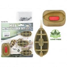 Set Max Method Feeder Behr 20g, 25g, 30g - Plumbi Pescuit Baracuda