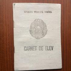 carnet de elev republica socialista romania an scolar 1974-75 perioada comunista