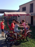 Bicicletă agrement cu 4 roți, 3 persoane, 21, 1, 12