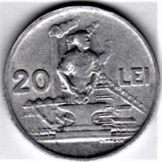 20 lei 1951 a.UNC/UNC RPR (2) - Moneda Romania, Aluminiu