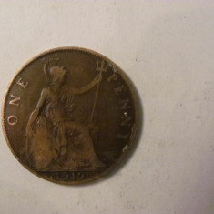 CY - Penny 1919 Marea Britanie Anglia, Europa