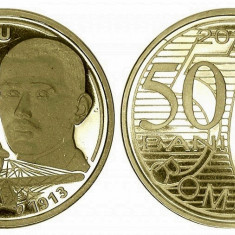 Romania moneda proof 50 Bani 2010 Aurel Vlaicu Unc Necirculata In Capsula - Moneda Romania