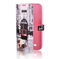 Husa Flip Cover Lemontti Book Happy Life City pentru Samsung Galaxy S4 i9500