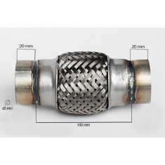 RACORD FLEXIBIL toba esapament INNER & OUTER BRAID 45x100 mm AL-62065