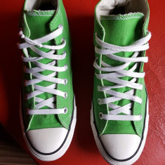 Converse All Star originali, high top, nr.39-24, 5 cm. - Tenisi dama Converse, Culoare: Verde, Textil