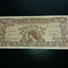 Bancnote romanesti 500lei 1947 mai rara in starea asta - Bancnota romaneasca