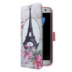 Husa Samsung Galaxy S7 Edge - Flip Cover Eiffel Tower - Husa Telefon, Piele Ecologica, Cu clapeta