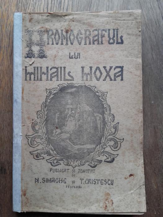 CRONOGRAFUL LUI MIHAIL MOXA - N . SIMACHE foto mare