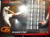 Poster Fotbal Liga 1 - 2010-2011 -Program Turneu - Gazeta Sporturilor, 57x40 cm