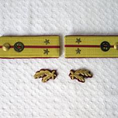 Epoleti si petlite locotenent arma chimica RSR, epoleti vechi armata romana