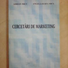 Cercetari de marketing - ADRIAN MICU , ANGELA ELIZA-MICU