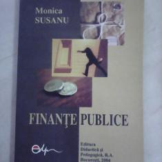 Finante publice - MONICA SUSANU - Carte despre fiscalitate