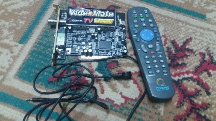 TUNER TV PENTRU PC MARCA COMPRO GOLD 2 PRODUS NOU CU TELECOMANDA foto mare