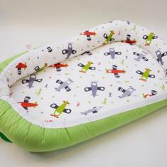 Baby nest clasic 0-6 luni cu avioane - Perna bebelusi