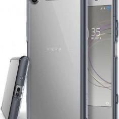 Husa Protectie Spate Ringke Fusion Smoke Black pentru Sony Xperia XZ1 - Husa Telefon