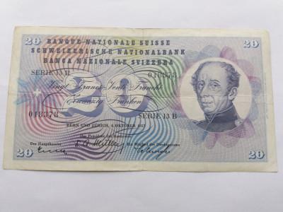 Elvetia 20 franci 1957 foto