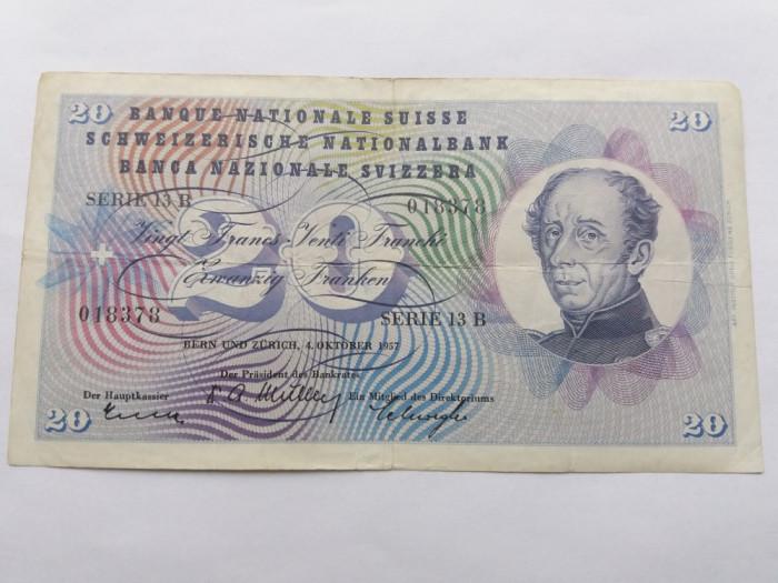 Elvetia 20 franci 1957 foto mare