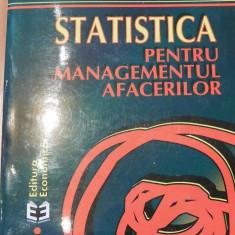 Statistica pentru managementul afacerilor de Alexandru Isaic-Maniu - Carte Management