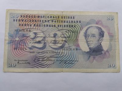Elvetia 20 franci 1955 foto