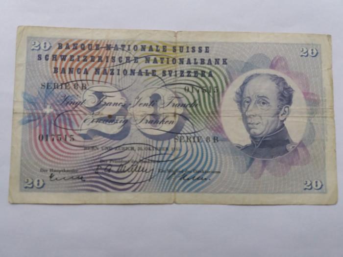 Elvetia 20 franci 1955 foto mare