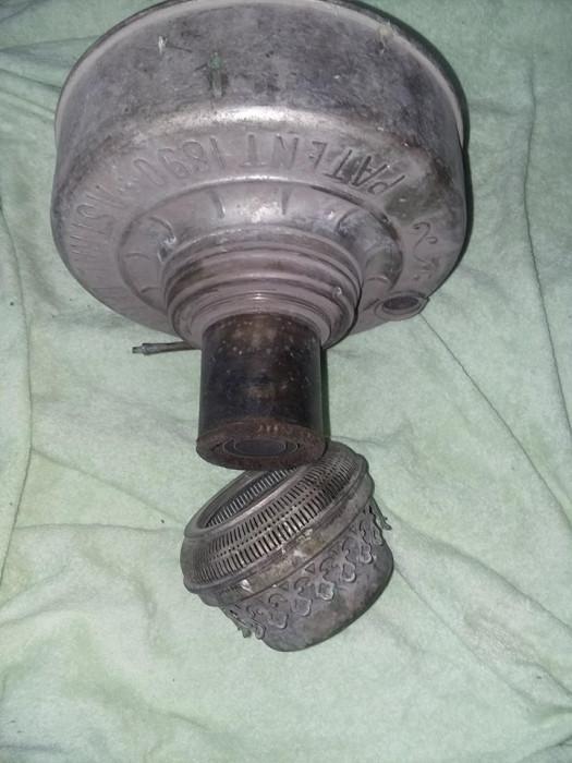 """Corp lampa gaz antica cu fitil PATENT 1890 ASTRAL LAMPE 40"""",Colectie,Tp.GRATUIT"""