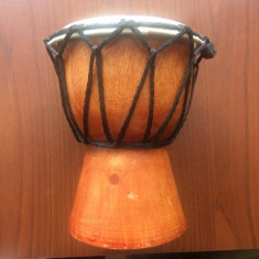Toba africana artizanala din lemn si piele instrument africa traditional hobby - Tobe