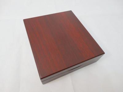 Cutie lemn depozitare cu balamale 17x15x4,5 cm inchidere magnetica foto