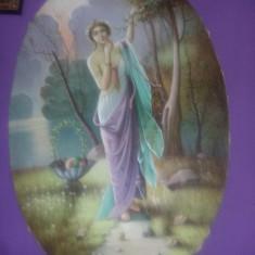 Tablou pictat fara rama SUPERB de colectie,pictura pe panza ROSCA,Tp.GRATUIT, Nud, Ulei, Realism