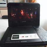 DVD PORTABIL CU USB SONY DVP-FX750 PERFECT FUNCTIONAL BATERIA 2,5 ORE
