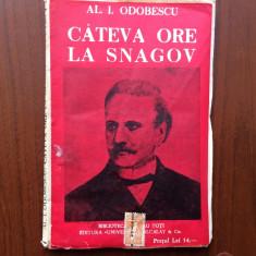 Cateva ore la snagov al odobescu carte biblioteca pentru toti universala alcalay - Carte veche