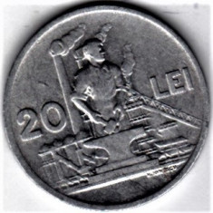20 lei 1951 XF/a.UNC RPR (7) - Moneda Romania, Aluminiu