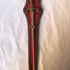 Panoplie veche, franceza, cu sabie, miniaturala