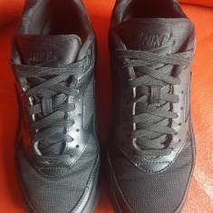Nike Air Max originali, piele naturala+textil, nr.41-26, 5 cm. - Adidasi barbati Nike, Culoare: Negru
