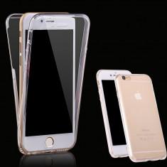 Husa iPhone 6 Plus si iPhone 6S Plus - Protectie 360° Fata Spate Full Cover - Husa Telefon, Gel TPU, Carcasa