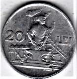20 lei 1951 a.UNC/UNC RPR (1), Aluminiu