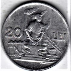 20 lei 1951 a.UNC/UNC RPR (1) - Moneda Romania, Aluminiu