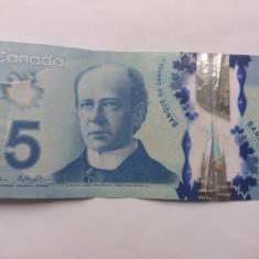 Canada 5 dollari 2013 - bancnota america