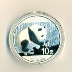 CHINA - 10 Yuan 2016 - 31.11 gr. Argint .999 - in capsula  - UNC, Asia