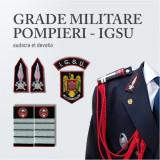 Grade Brodate IGSU Pompieri, Embleme Brodate IGSU Pompieri si Petlite Brodate