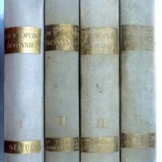 ENCICLOPEDIA ROMANIEI, D. GUSTI, VOLUMELE I - IV, BUCURESTI, 1938-1943 - Carte veche
